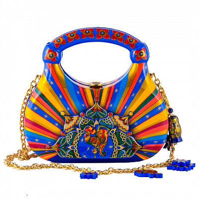 'Blue Dowel' Bag - «The Golden Cockerel»