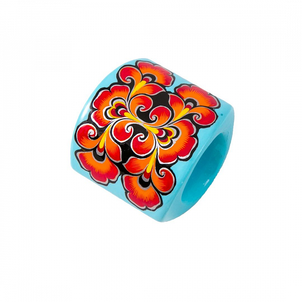 'Oval' Scarf Ring - «Snow-maiden»
