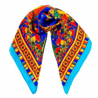 Silk Scarf  - «The Golden Cockerel»