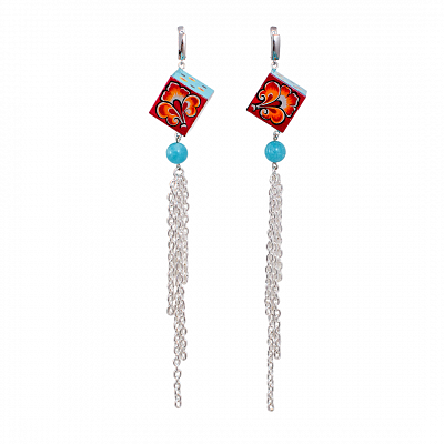 'Chains' Earrings - «Snow-maiden»