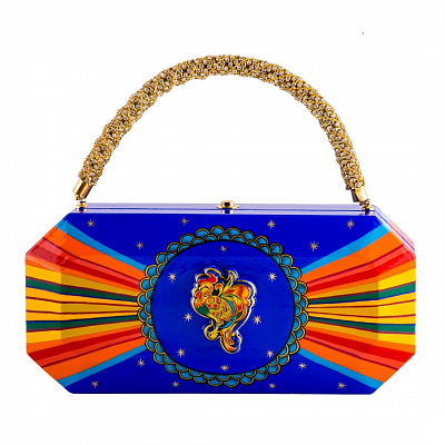 'Crystal Clutch' Bag - «The Golden Cockerel»