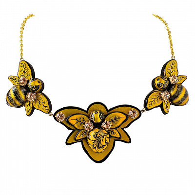 'Three Bumblebees' Necklace